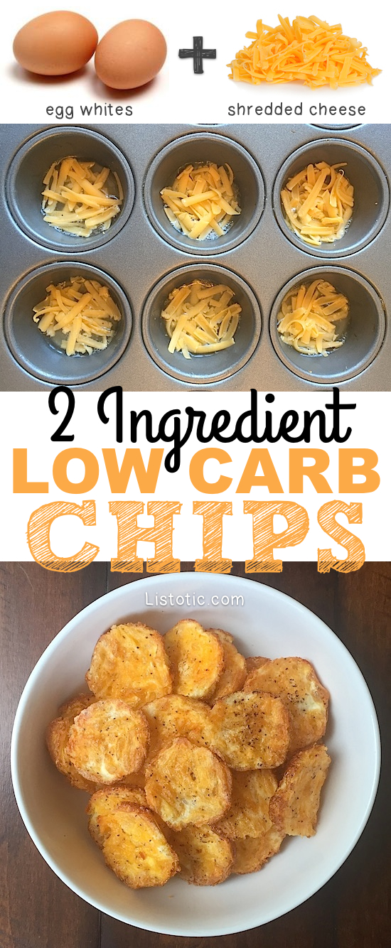 2-Ingredient Low Carb Chips - Keto Snacks