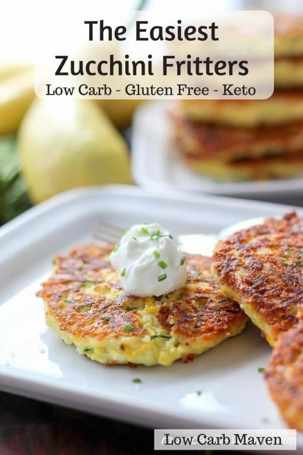 Low Carb Zucchini Fritters - Easy DIY Keto snacks