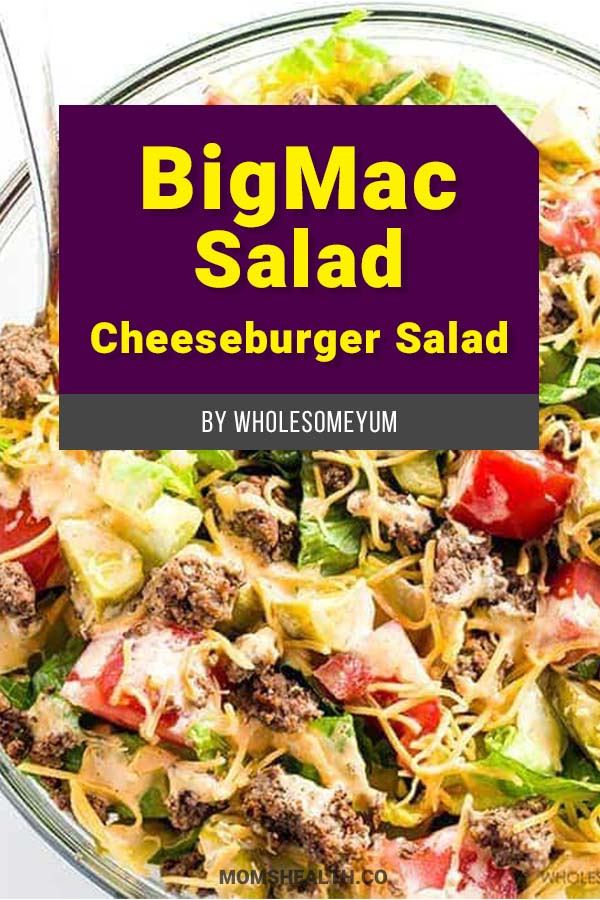 Big Mac Salad – Cheeseburger Salad - 10 Easy Keto Lunch Ideas on the Go – Keto Lunch for Work