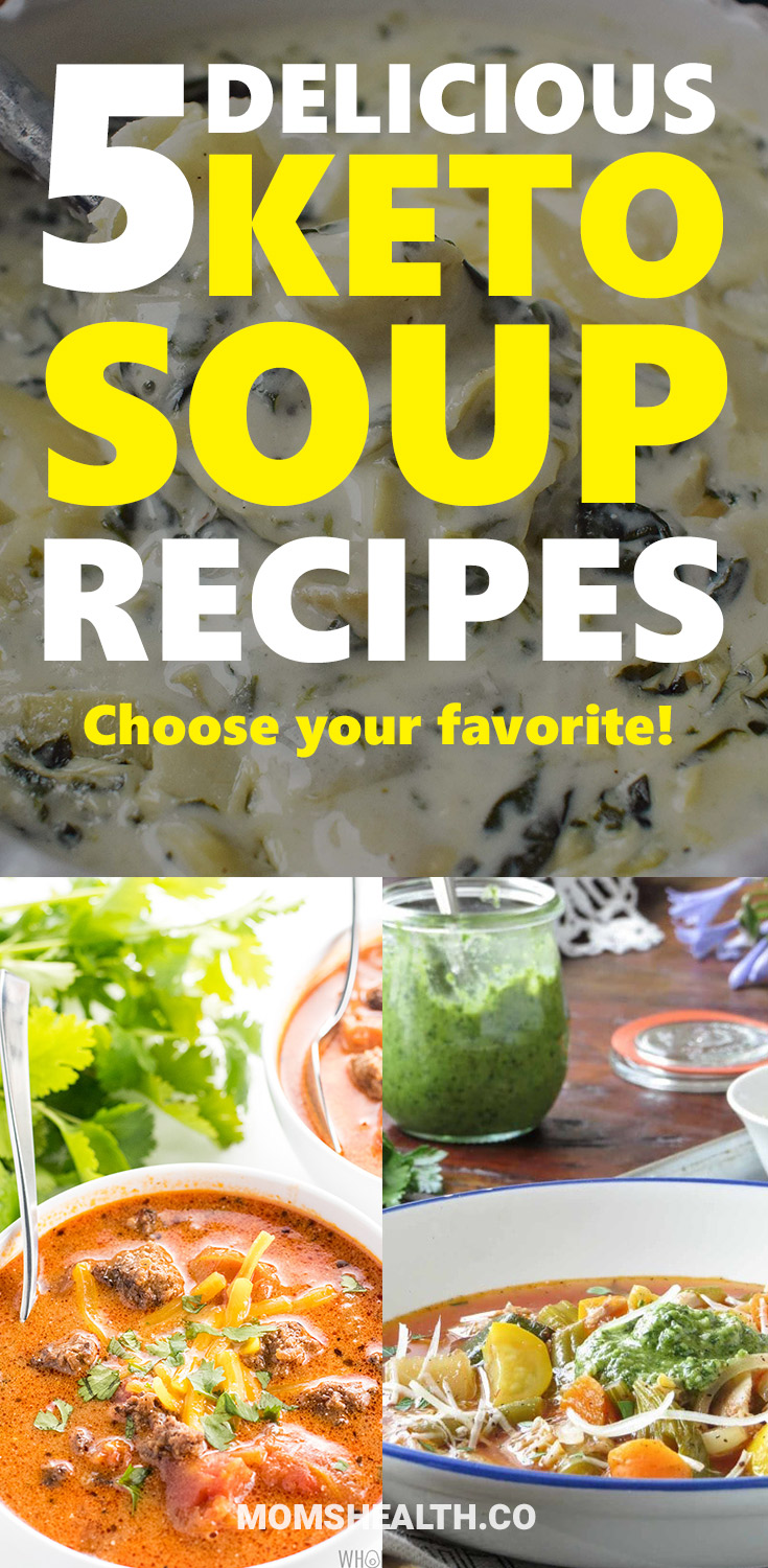 Try these Keto soup recipes – which one is your favorite? Keto diet doesn't mean only eating meat and eggs, Ketogenic friendly soup recipes will match your Keto lunch or Keto dinner. Add these low carb soup recipes to your Keto meal plan!