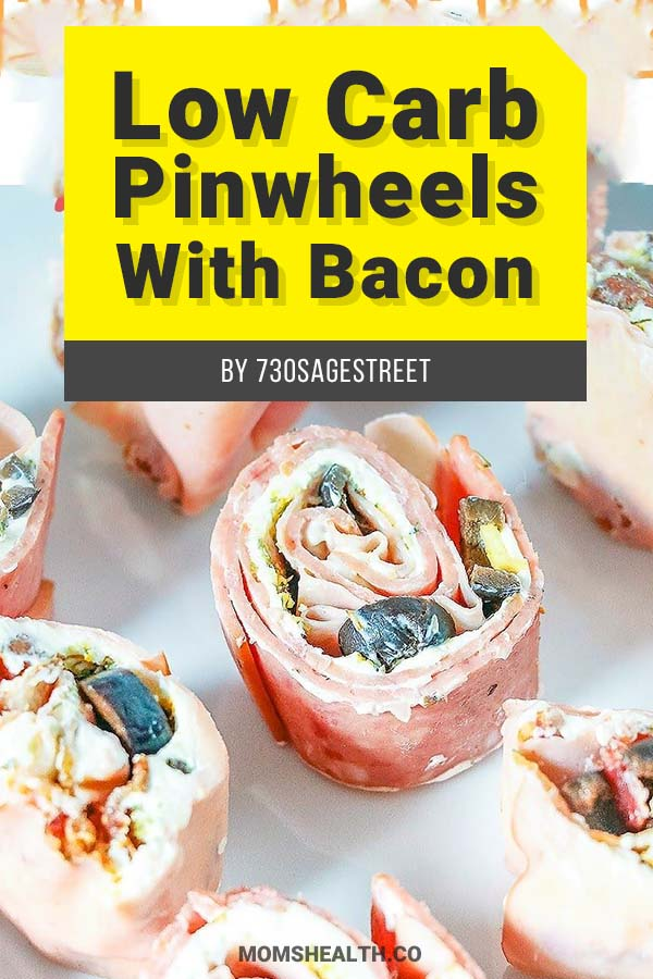 Low Carb Pinwheels with Bacon - 10 Easy Keto Lunch Ideas on the Go – Keto Lunch for Work