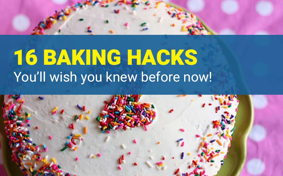 In this post, I share with you awesome baking hacks, tips and tricks that will save you so much time - both on prep time and baking! These cooking hacks, kitchen tips and lifehacks and DIY substitutes for ingredients you are missing will save you time and money!