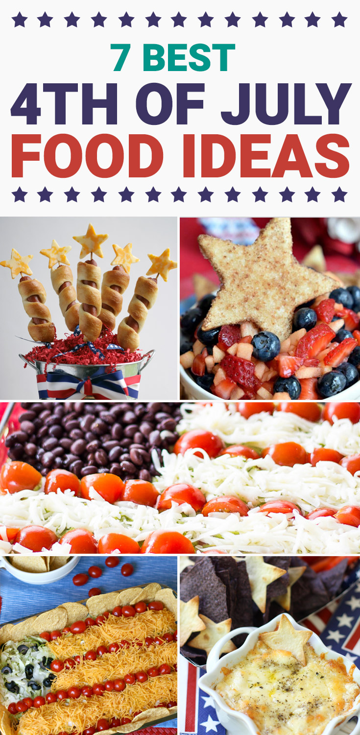 Are you looking for some ideas for your 4th of July food recipes? I made my list of the best Patriotic recipes for the Independence day party. Enjoy these 4th of July food ideas and save your favorite to your 4th of July Food board on Pinterest to check the recipe later! #4thofjuly