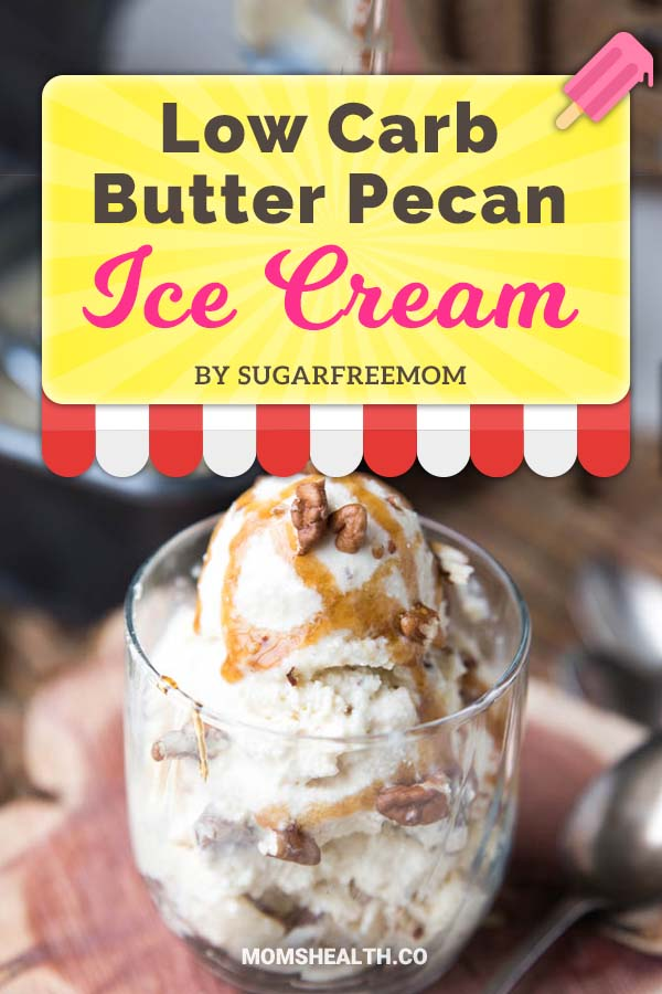Keto Low Carb Butter Pecan Ice Cream - Ketogenic diet might be strict with carbs, but it's definitely not boring! This summer you have to try these refreshing Keto ice cream recipes - I found one for every taste and sweet tooth. You can stay in Ketosis and enjoy these easy and fast low carb ice cream recipes!