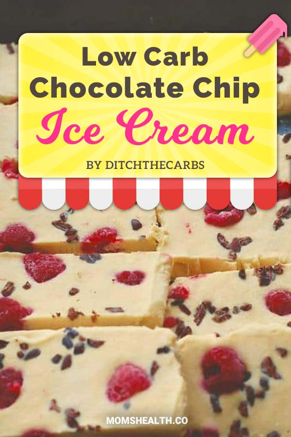 Low-Carb Chocolate Chip Ice Cream Bars - Ketogenic diet might be strict with carbs, but it's definitely not boring! This summer you have to try these refreshing Keto ice cream recipes - I found one for every taste and sweet tooth. You can stay in Ketosis and enjoy these easy and fast low carb ice cream recipes!