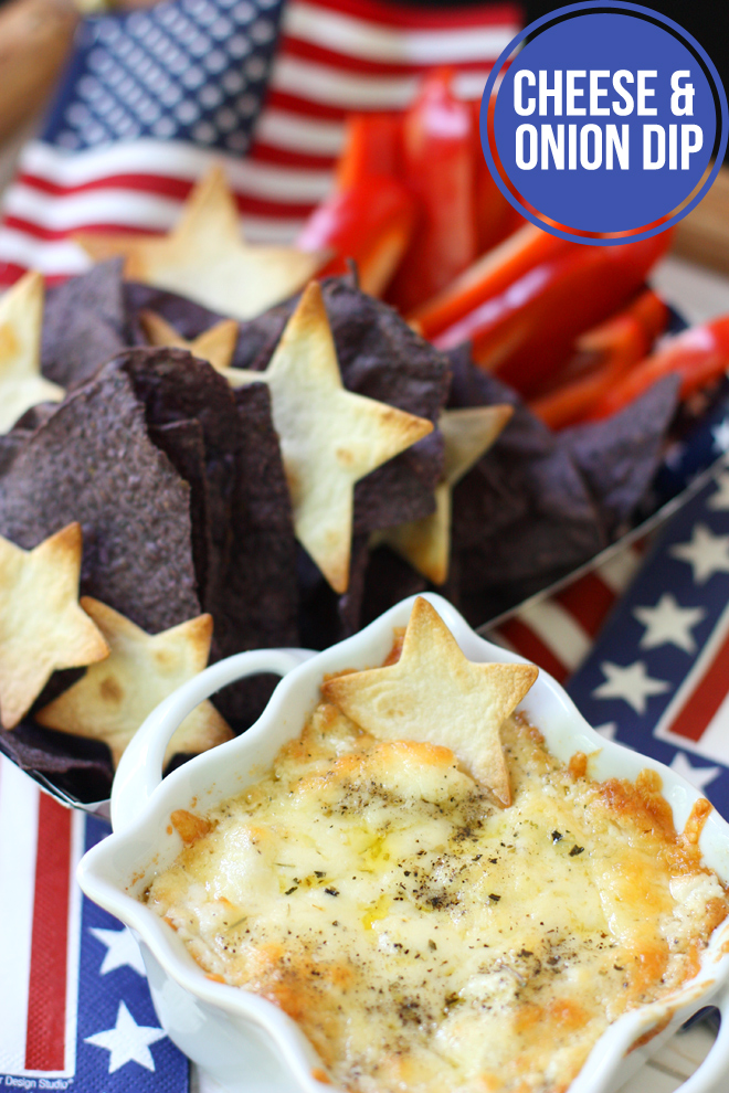 Chips & Cheese Dip. Are you looking for some ideas for your 4th of July food recipes? I made my list of the best Patriotic recipes for the Independence day party. Enjoy these 4th of July food ideas and save your favorite to your 4th of July Food board on Pinterest to check the recipe later! #4thofjuly