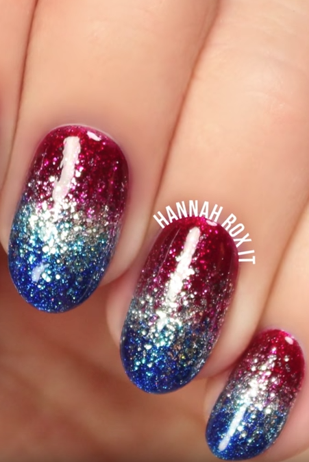 4th Of July Patriotic Nails Easy Nails Design For Independence Day