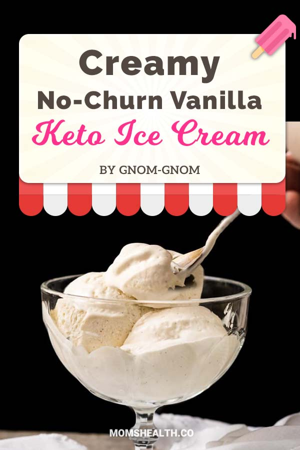 No-Churn Paleo, Low Carb & Keto Vanilla Ice Cream - Ketogenic diet might be strict with carbs, but it's definitely not boring! This summer you have to try these refreshing Keto ice cream recipes - I found one for every taste and sweet tooth. You can stay in Ketosis and enjoy these easy and fast low carb ice cream recipes!