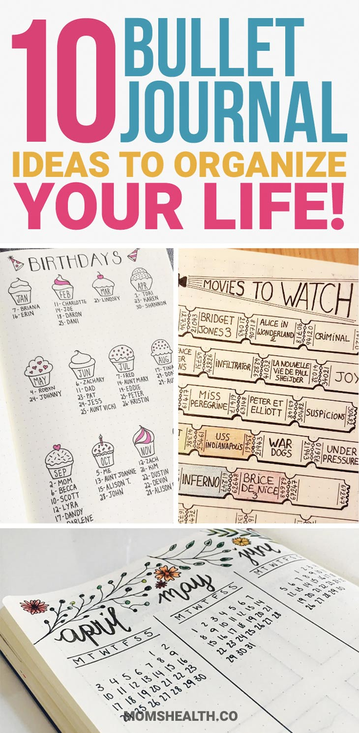 Best bullet journal ideas to organize your life. How to start a bullet journal, get the best bullet journal ideas here. Printables and other planner inspiration #bulletjournaling