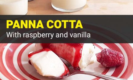 Vanilla Raspberry Panna Cotta