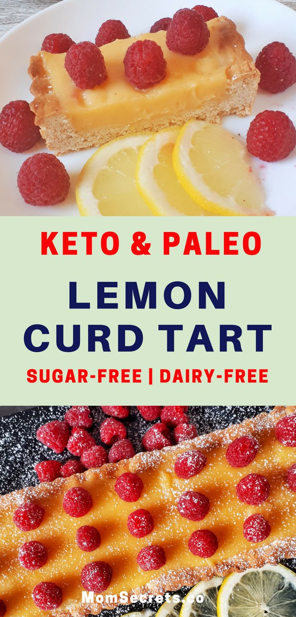 Keto Dessert Recipes - Low Carb & Sugar-Free Lemon Curd Tart