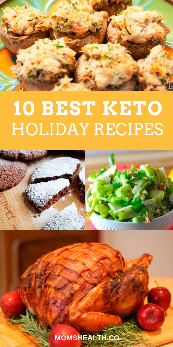 Keeping Keto diet during the holiday season isn't easy. To avoid high carbs, you need to consider your menu during the holidays carefully. Check a great collection of Keto holiday recipes for Halloween, Thanksgiving and Christmas as they are closer than you may think. #keto #ketogenic #ketodiet #recipes #holiday #halloween #thanksgiving #christmas #lowcarb #diet