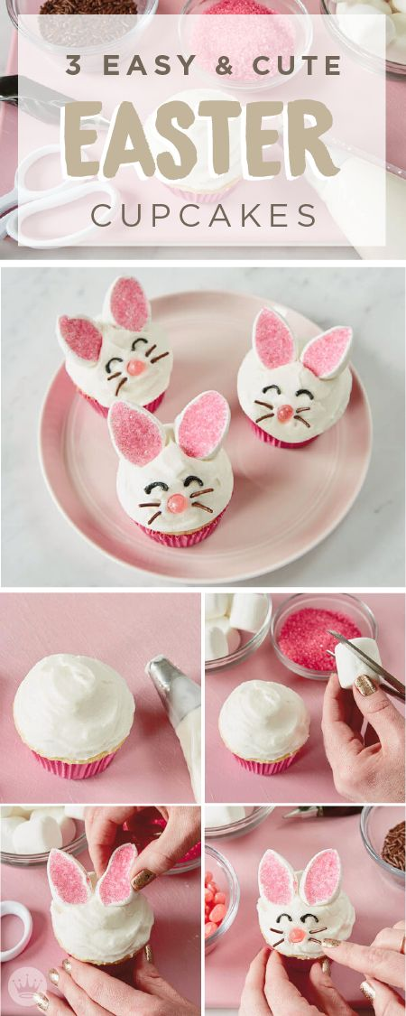Easy and Cute Easter Cupcakes