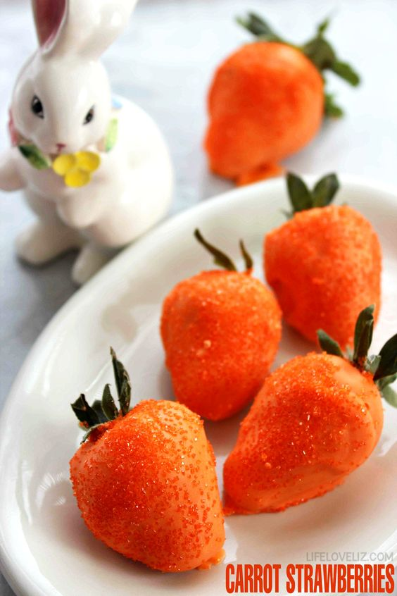 Easter Dessert Recipe: Carrot Strawberries