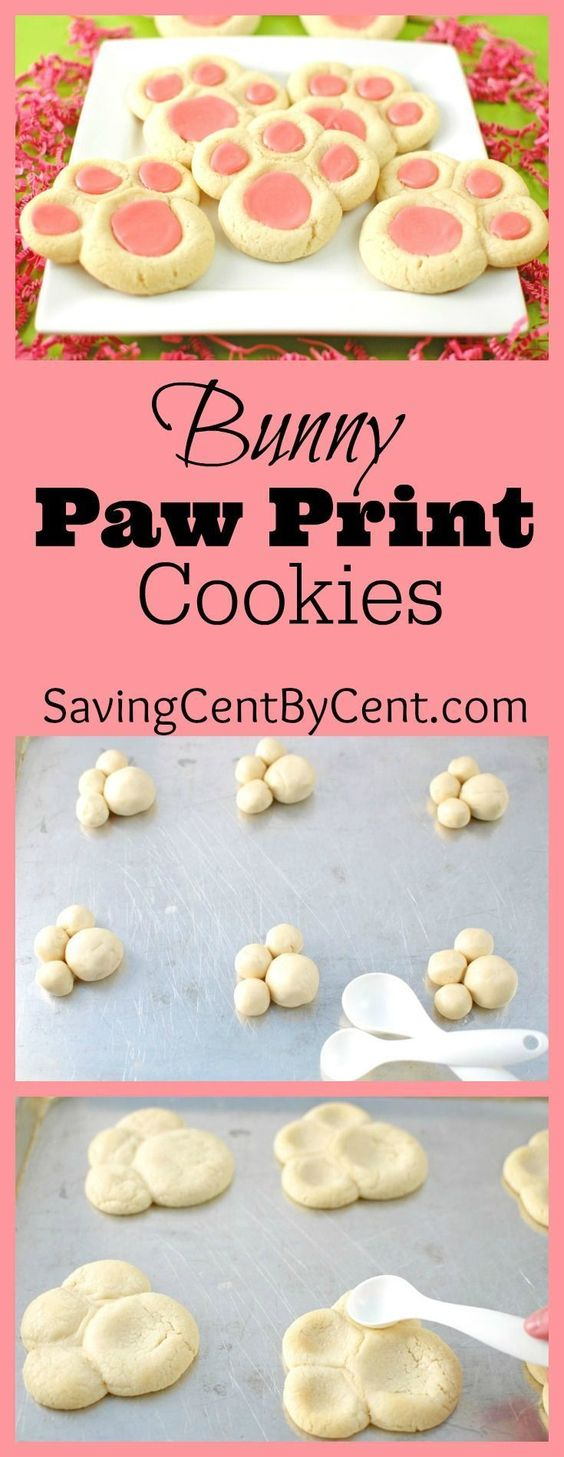 Easter Bunny Paw Print Cookies