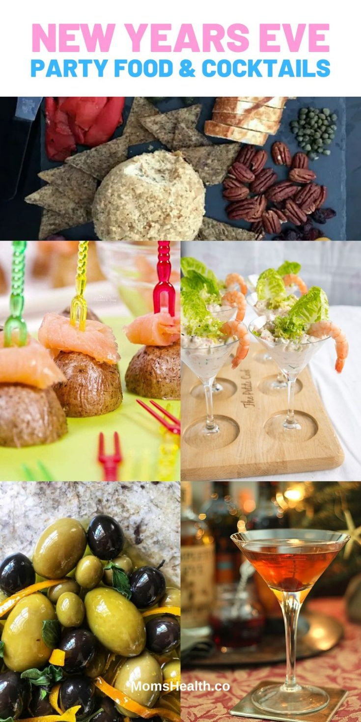 New Year's Eve Party Ideas 2021 - Appetizers and Party Food & Cocktails